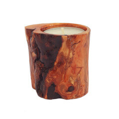 Suport lumanare din lemn lacuit