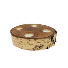 Suport 4 lumanari din lemn de fag