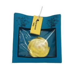 Sapun in forma de trandafir galben, realizat manual