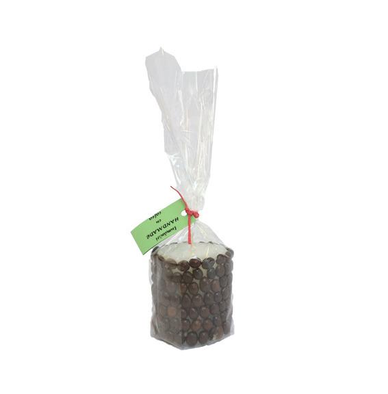 Lumanare handmade cu cafea, forma cilindrica