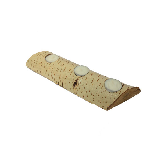 Suport 3 lumanari din lemn de fag