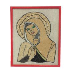 Tablou Fecioara Maria in rama rosie